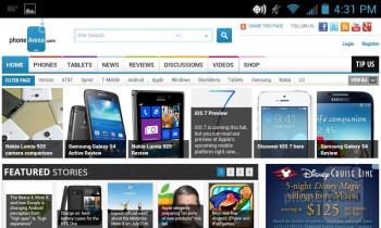 The Casio G'zOne Commando 4G LTE comes equipped with a standard web browser - Casio G'zOne Commando 4G LTE Review