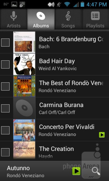 Music player of the Casio Gz'One Commando 4G LTE - Casio G'zOne Commando 4G LTE Review