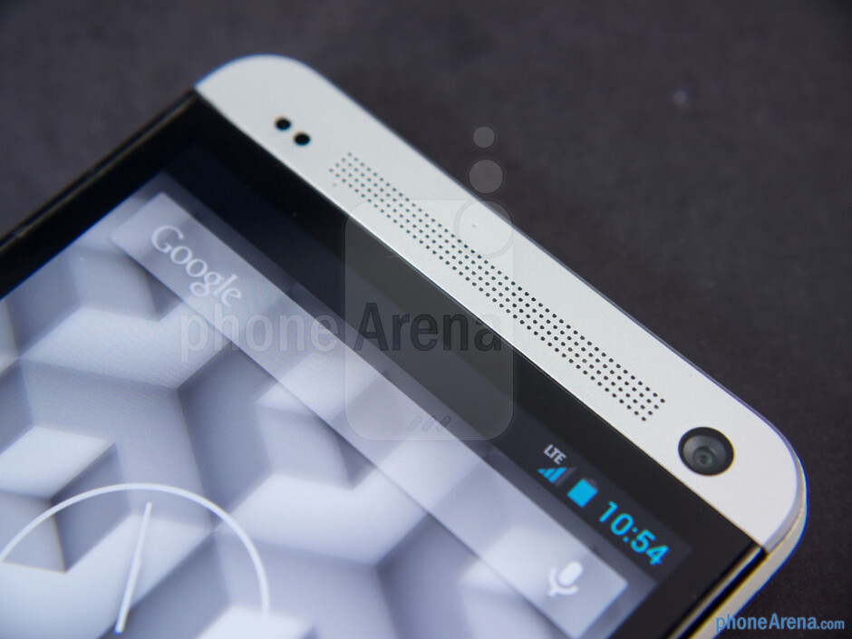 Front camera and speaker - HTC One Google Play Edition Review