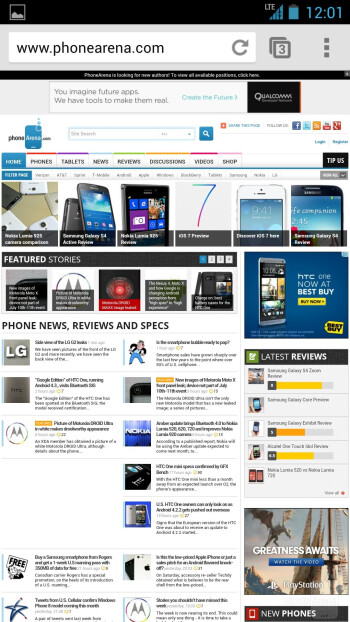 Internet browsing - HTC One Google Play Edition vs HTC One