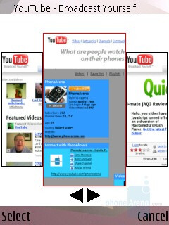 History - Internet Browser - Nokia N95 Review