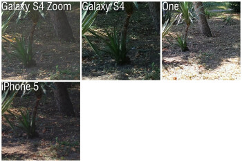 100% crop - Camera Comparison: Samsung Galaxy S4 Zoom vs Galaxy S4, HTC One, iPhone 5