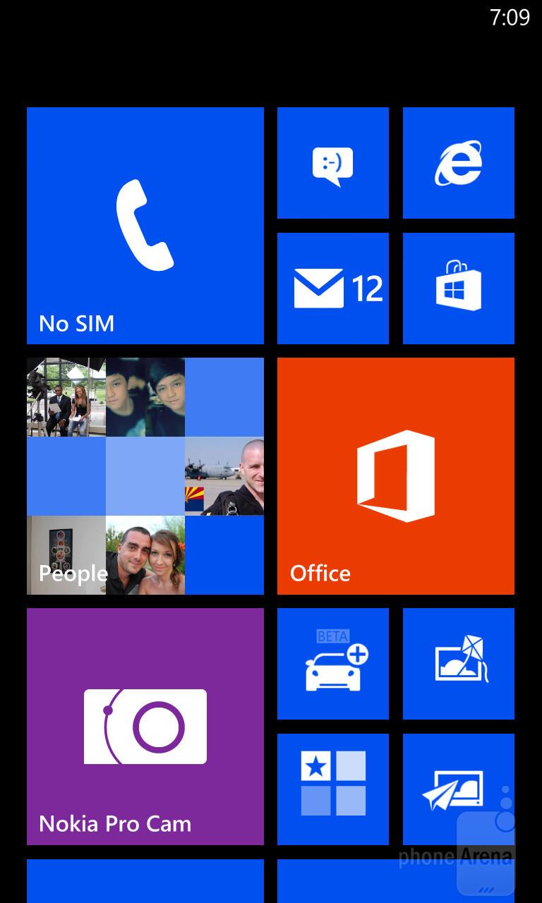 UI of the Nokia Lumia 1020 - Nokia Lumia 1520 vs Nokia Lumia 1020