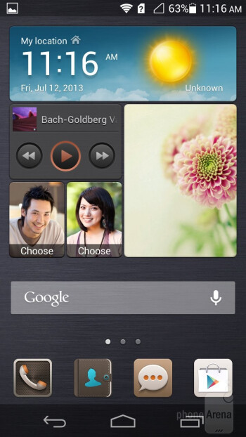 Emotion UI 1.6 is overlayed on top of Android 4.2.2 on the Huawei Ascend P6 - Huawei Ascend P6 Review