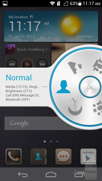 Profiles - Notification bar - Huawei Ascend P6 Review