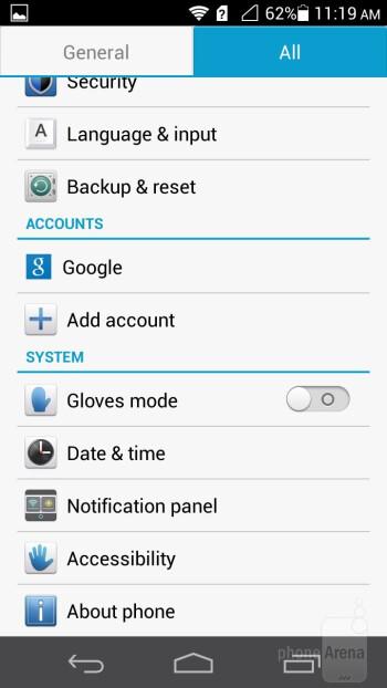 Notification bar - Huawei Ascend P6 Review