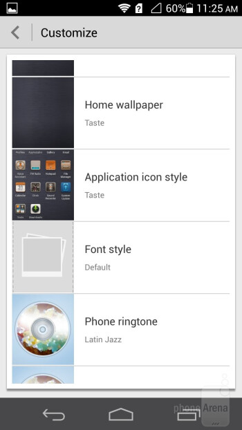 Launcher themes - Huawei Ascend P6 Review