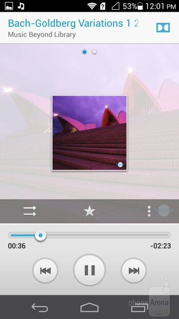 The music player - Huawei Ascend P6 Review