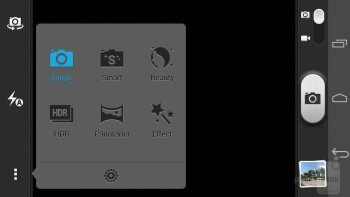 Camera app interface - Huawei Ascend P6 Review
