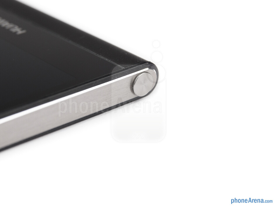 The tray ejector for the microSIM and microSD card slots is in the headphone jack - Huawei Ascend P6 Review