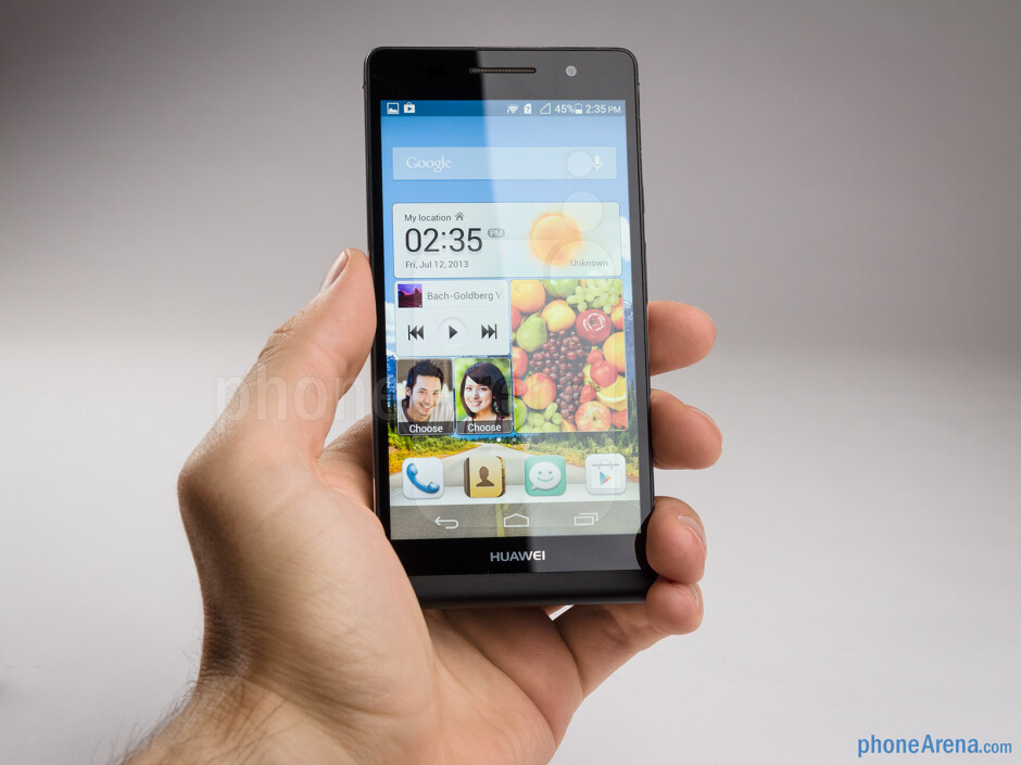 The Huawei Ascend P6 has sharp edges, which make for a more secure grip - Huawei Ascend P6 Review