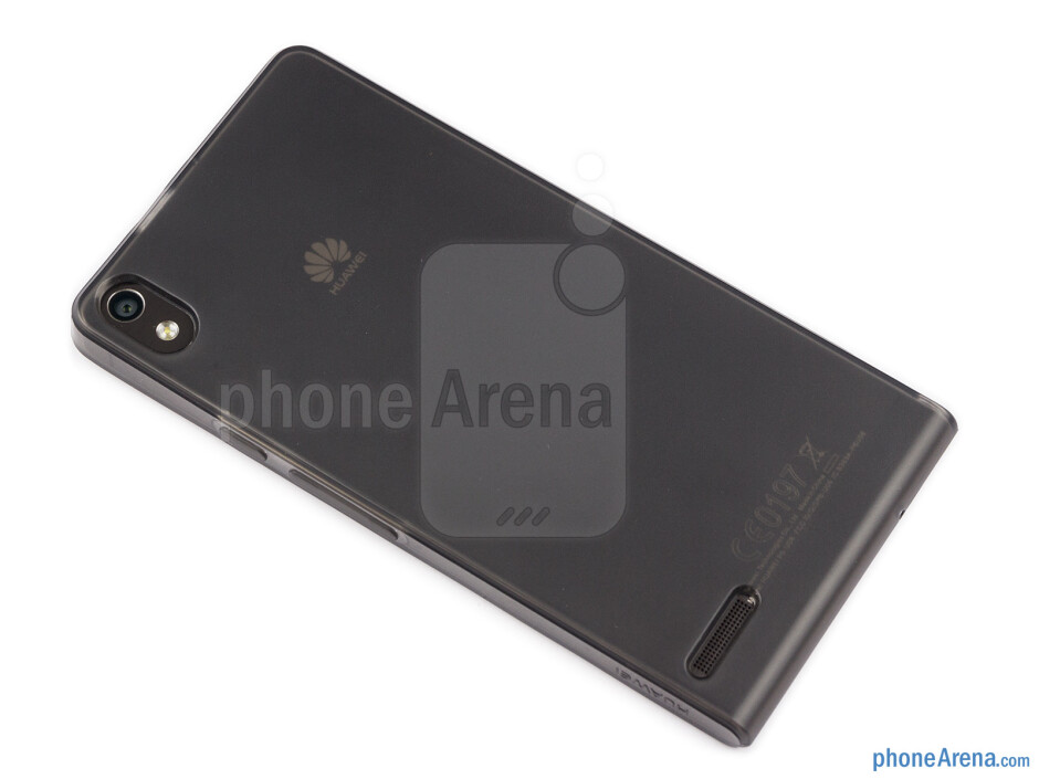Huawei has also provided a silicon case in the box - Huawei Ascend P6 Review