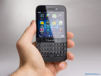 The BlackBerry Q5 fits very nicely in the palm - BlackBerry Q5 Review
