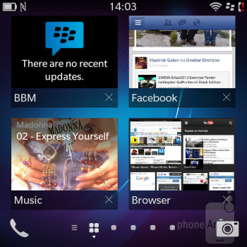 The new BlackBerry 10 user interface - BlackBerry Q5 Review