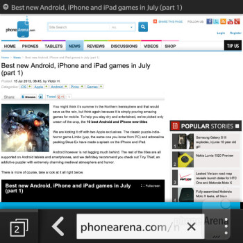 The web browser of the BlackBerry Q5 - BlackBerry Q5 Review