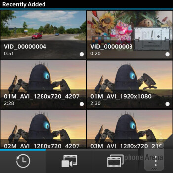 Video player - BlackBerry Q5 Review