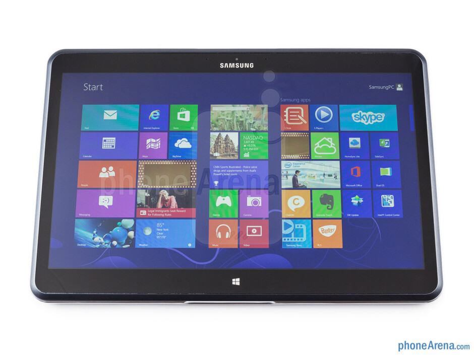 The Samsung Ativ Q closed in a tablet mode - Samsung ATIV Q Review