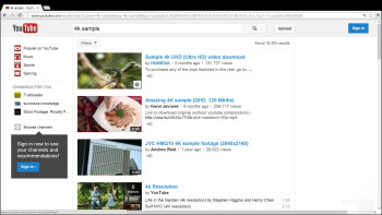 Streaming 4K YouTube clips - Samsung ATIV Q Review
