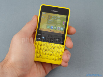 The Nokia Asha 210 lies pretty well in the hand - Nokia Asha 210 Dual SIM Review