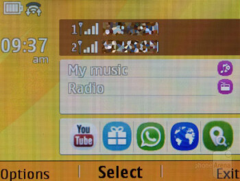Interface of the Nokia Asha 210 - Nokia Asha 210 Dual SIM Review