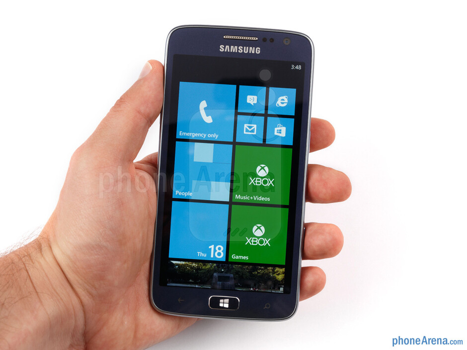 The ATIV S Neo sticks to Samsung's favorite glossy plastic construction, which makes handling the phone quite convenient - Samsung ATIV S Neo Preview
