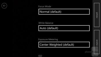Camera interface - Samsung ATIV S Neo Preview