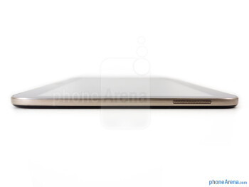 Right - The sides of the the Samsung Galaxy Tab 3 10.1 - Samsung Galaxy Tab 3 10.1 Review