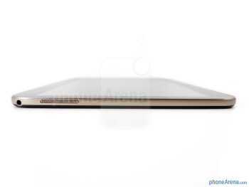 Left - The sides of the the Samsung Galaxy Tab 3 10.1 - Samsung Galaxy Tab 3 10.1 Review
