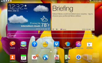UI of the Samsung Galaxy Tab 3 10.1 - Apple iPad Air vs Samsung Galaxy Tab 3 10.1
