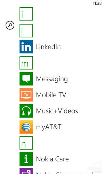 Interface of the Nokia Lumia 1020 - LG G2 vs Nokia Lumia 1020