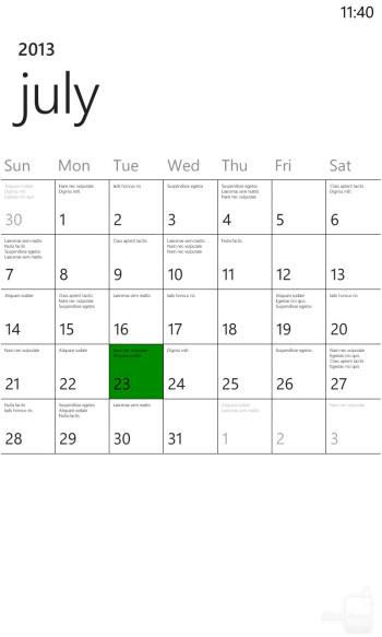 Organizer apps of the Nokia Lumia 1020 - LG G2 vs Nokia Lumia 1020
