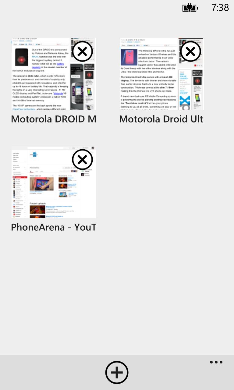 Browser of the Nokia Lumia 1020 - Nokia Lumia 1520 vs Nokia Lumia 1020