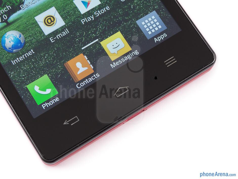 Capacitive Android keys - LG Optimus GJ Review