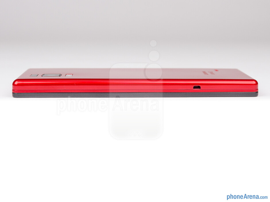 Right side - The sides of the LG Optimus GJ - LG Optimus GJ Review