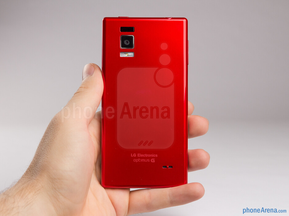 The LG Optimus GJ is slightly taller and thicker than the Optimus G - LG Optimus GJ Review