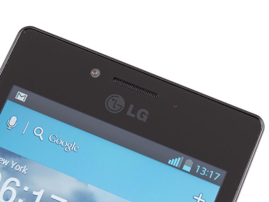 Front camera - LG Optimus GJ Review