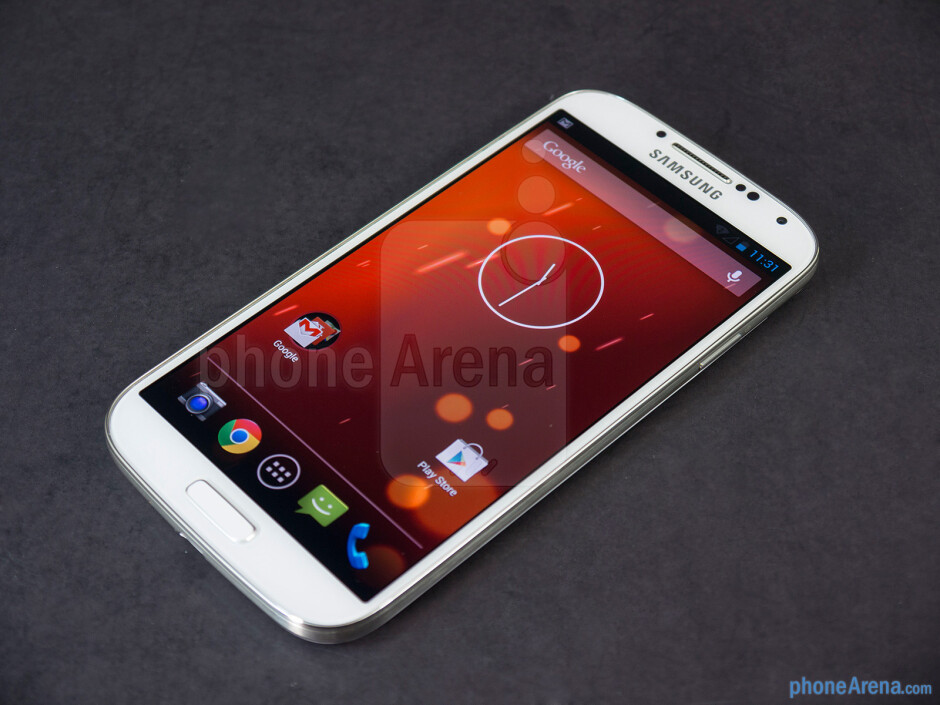 The façade of the Samsung Galaxy S4 - Samsung Galaxy S4 Google Play Edition Review