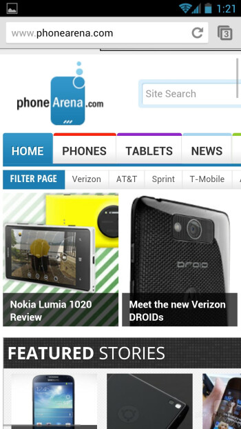 Web browsing experience is utterly top notch - Samsung Galaxy S4 Google Play Edition Review