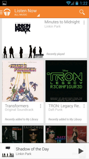 The Google Play Music app - Samsung Galaxy S4 Google Play Edition Review