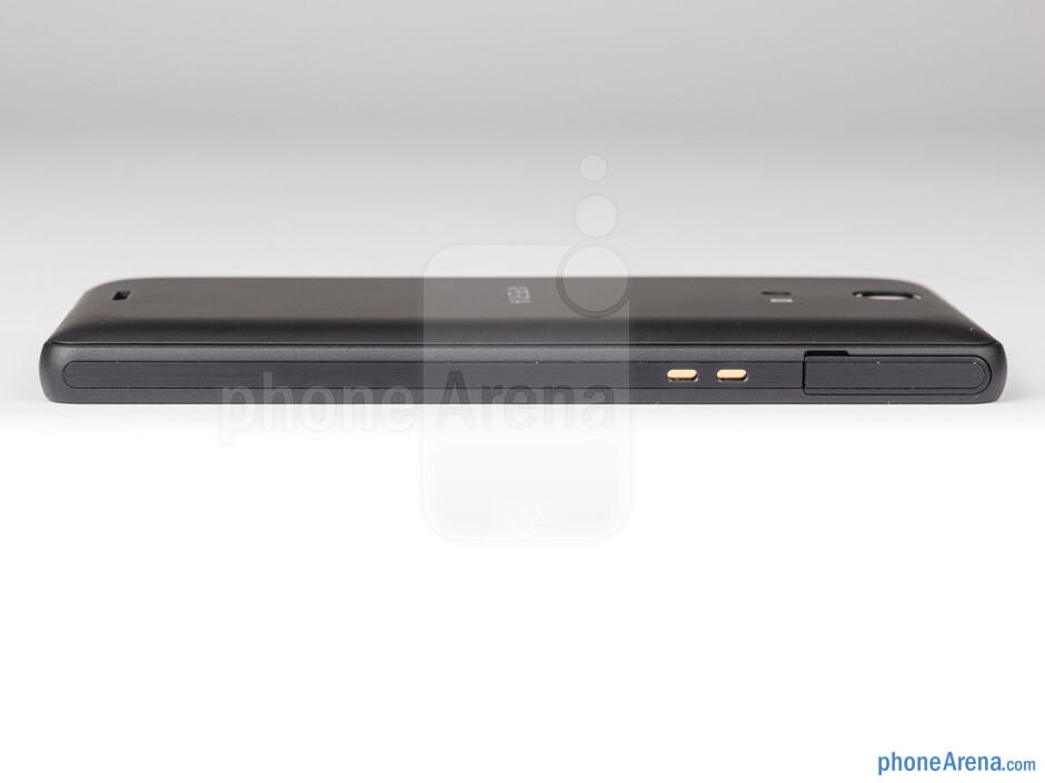 The microUSB port is on the left - Sony Xperia ZR Review