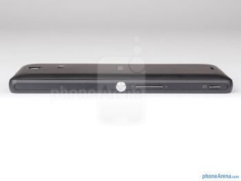 The power button, camera shutter and volume rocker are on the right - Sony Xperia ZR Review