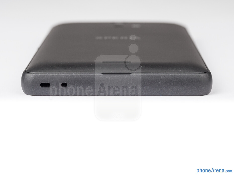 The bottom side of the phone - Sony Xperia ZR Review