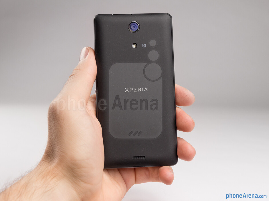 The Sony Xperia ZR feels comfortable in the hand and not bulky - Sony Xperia ZR Review