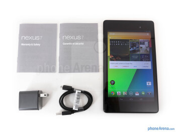 Box and contents - Google Nexus 7 Review (2013)