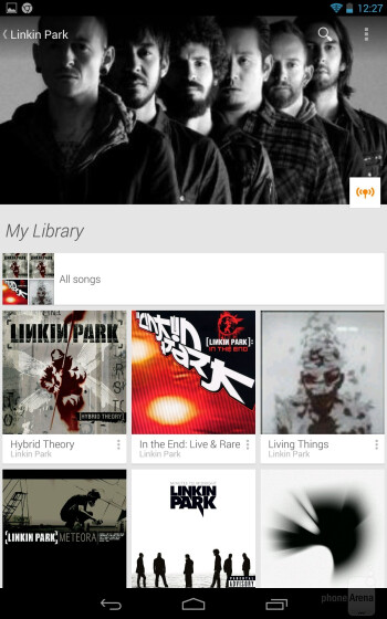 The Google Play Music app of the Nexus 7 - Apple iPad mini 2 vs Google Nexus 7