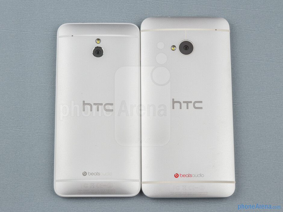 The HTC One Mini (left, top) and the HTC One (right, bottom) - HTC One mini Review