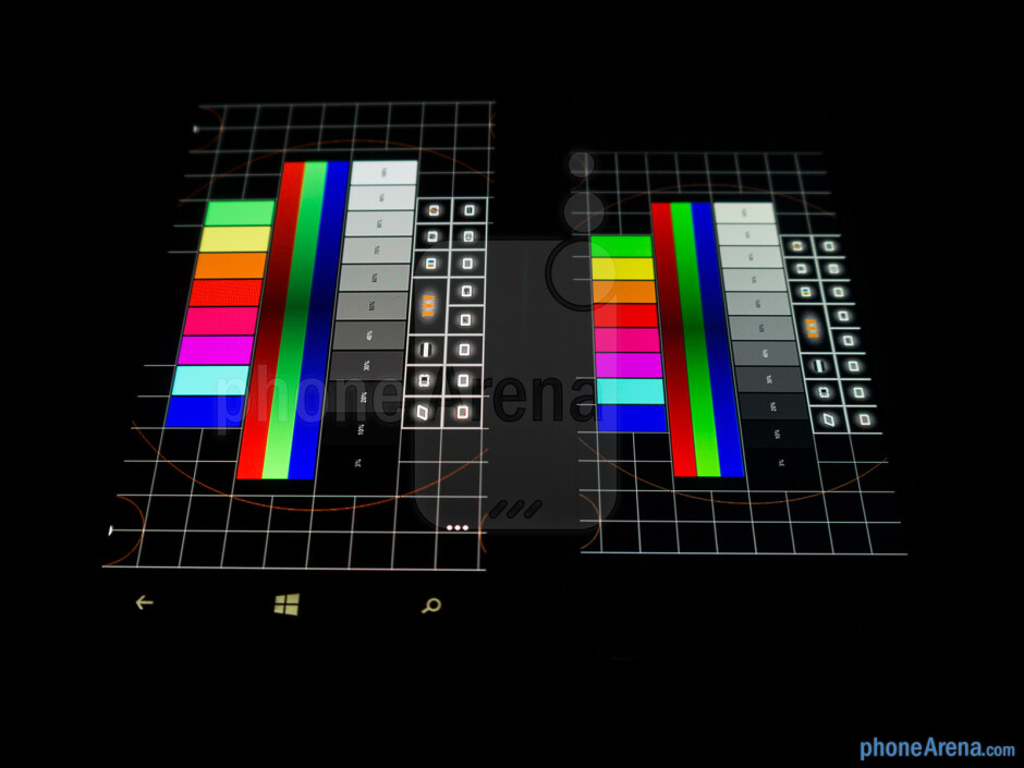 The Nokia Lumia 1020 is on the left while the iPhone 5 is on the right - Nokia Lumia 1020 vs Apple iPhone 5