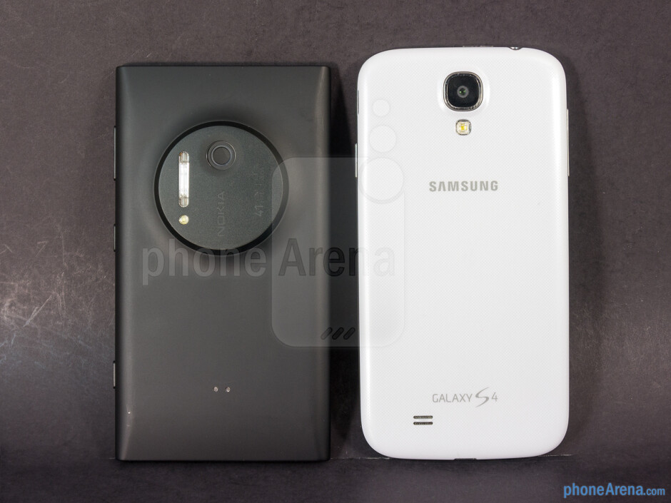 The Galaxy S4 is easier to handle, since it lighter and thinner than the Lumia 1020 - Nokia Lumia 1020 vs Samsung Galaxy S4