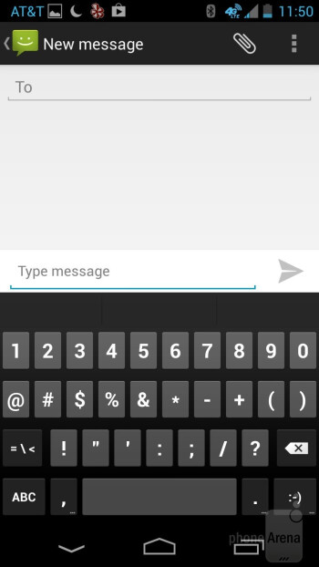 The stock Android on-screen keyboard is fabulous - Motorola Moto X Review