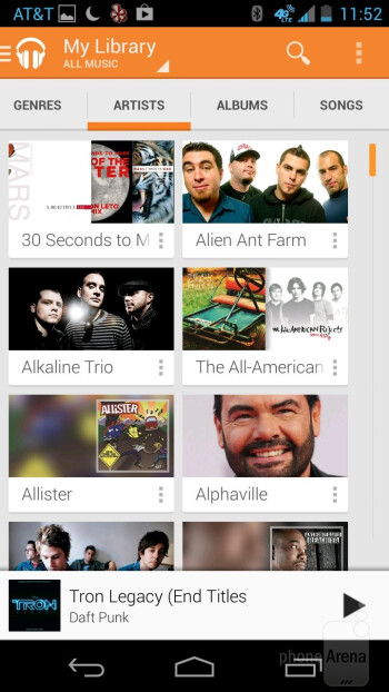 The Google Play Music app - Motorola Moto X Review